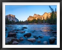 Framed Rocks in The Merced River in the Yosemite Valley