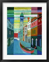 Framed Canals of Venice I