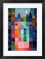 Block Town at Dusk Framed Print
