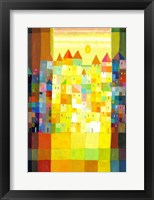 Block Town in the Morning Framed Print