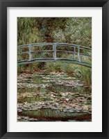 Framed Waterlily Pond, Japanese Bridge