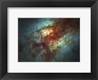 Framed Super Star Clusters in Dust-Enshrouded Galaxy