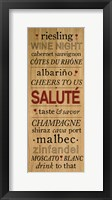 Framed Wine Words I