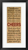 Wine Words II Framed Print