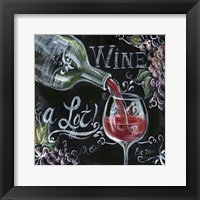 Framed Chalkboard Wine I