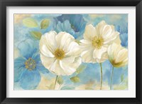 Framed Watercolor Poppies Landscape