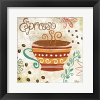 Colorful Coffee III Framed Print