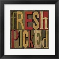 Printers Block Farm To Table III Framed Print