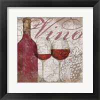 Framed Vino and Vin I