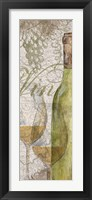 Vino and Vin Panel II Framed Print