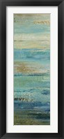 Framed Blue Indigo Panel I
