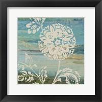 Blue Indigo w/Lace II Framed Print