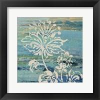 Blue Indigo w/Lace III Framed Print