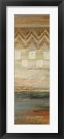 Framed Siena Geometric Panel II
