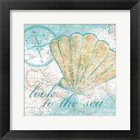 Look to the Sea I Framed Print