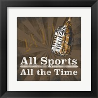 Sports Talk II Framed Print