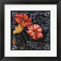 Framed Flowers in Bloom Chalkboard I