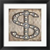 Marquee Symbols III Framed Print