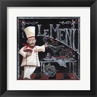 Chalkboard Chefs I Framed Print