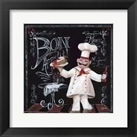 Chalkboard Chefs II Framed Print