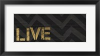 Chevron Sentiments Black/Gold Panel I Framed Print
