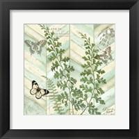 Chevron Botanical I Framed Print