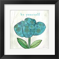 Paper Flower I Framed Print