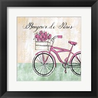 Bonjour de Paris II Framed Print