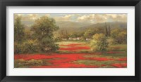 Framed Poppy Village