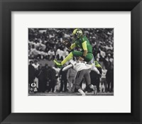 Framed Marcus Mariota University of Oregon 2014 Spotlight Action