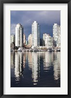Framed Buildings along False Creek, Vancouver, British Columbia, Canada