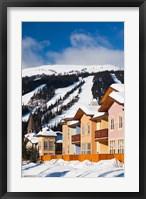 Framed Ski lodges, Sun Peaks Resort, Sun Peaks, British Columbia, Canada