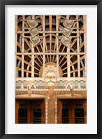 Framed Detail of the Marine Building, Vancouver, British Columbia, Canada