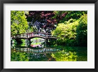 Framed British Columbia, Vancouver, Hately Gardens bridge