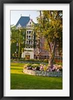 Framed British Columbia, Victoria, Empress Hotel Gardens