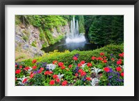 Framed Butchart Gardens Water Fall, Victoria, British Columbia, Canada