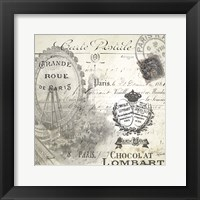 All About Paris II Framed Print
