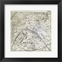 All About Paris III Framed Print
