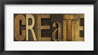 Printers Block Sentiment Panel II - Create Framed Print