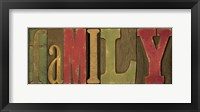 Printers Block Sentiment Spice I - Family Framed Print