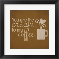 Wine and Coffee Sayings III Framed Print