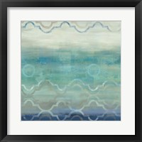 Abstract Waves Blue/Gray I Framed Print