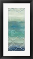 Abstract Waves Blue/Gray Panel I Framed Print