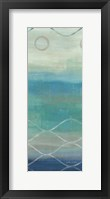 Abstract Waves Blue/Gray Panel II Framed Print