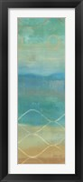 Abstract Waves Blue Panel II Framed Print