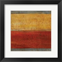 Abstract Stripe Square II Framed Print