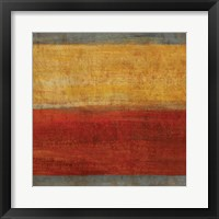 Framed Abstract Stripe Square II