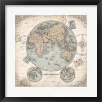 World Hemispheres I Framed Print