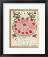 A Strawberry Chiffon Pie Framed Print