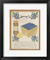 Blueberry Crisp Framed Print